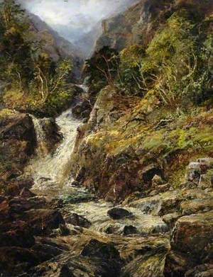 A Welsh Mountain Torrent