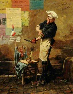 A Rat Seller during the Siege of Paris