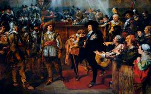 Charles I Leaving Westminster after His Death Sentence Had Been Passed