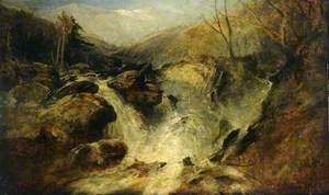 A Mountain Waterfall in Snowdonia