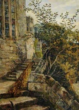 Old Chapel Steps, Haddon Hall, Derbyshire