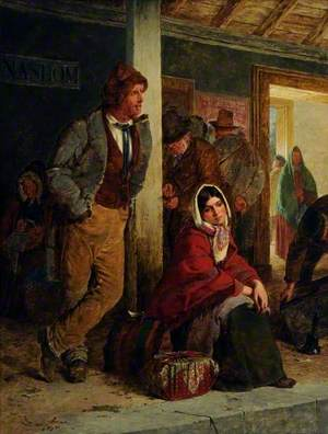 Irish Emigrants Waiting for the Train