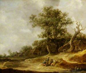 Landscape with Cottages on the Dunes