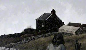 Cottage and Woman (Biddulph, near Stoke-on-Trent, Staffordshire)
