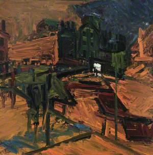 Looking towards Mornington Crescent Station, Night