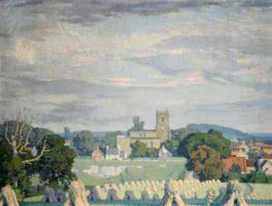 Landscape with a Church and Corn Stooks*