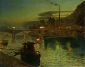 River Scene, Evening