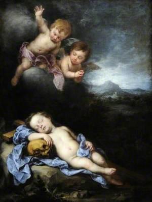 The Infant Christ Asleep on the Cross