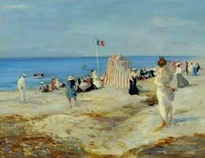 French Beach Scene, Dieppe