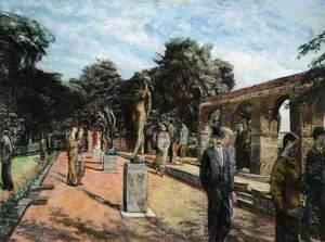Visitors to a Sculpture Park