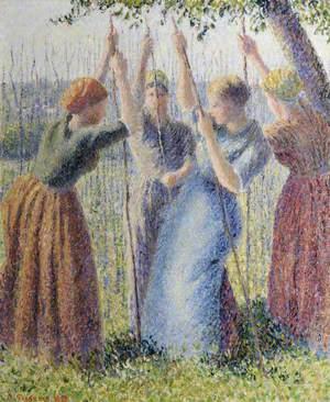 Paysannes plantant des rammes