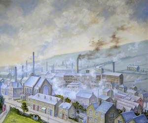 View of Stocksbridge, Sheffield, from the Clock Tower Gardens, Late 1940s