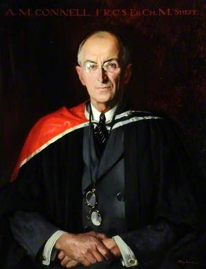 A. M. Connell (1872–1945), FRCS, ED, CH, M SHEFF, Honorary Surgeon, Sheffield Infirmary (1901–1931), Professor of Surgery (1913–1930)