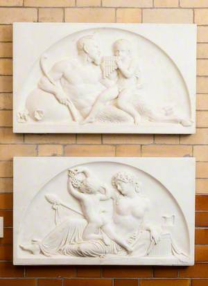 Reliefs of the Infant Bacchus with Pan and a Nymph
