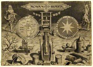 Frontispiece of 'Nova Reperta' (New Inventions)