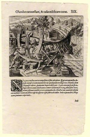 Olandus Carauellam, at Casas Aedificare Curat (The Dutch Build Ships and Houses)