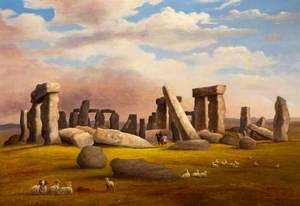 Sheep Grazing, Stonehenge