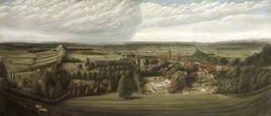 Panoramic View of Glastonbury
