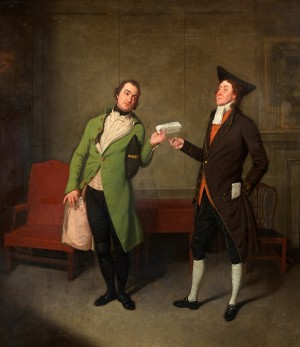 Bannister and Suett in 'Sylvester Daggerwood' by G. Colman the Younger, Haymarket Theatre, 1796