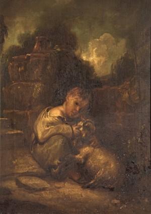 A Boy with a Lamb