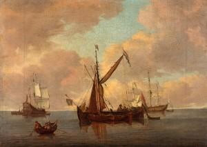 A Calm with Dutch Vessels