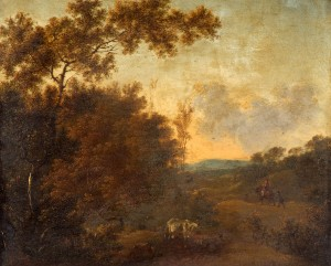A Woody Landscape with Cattle