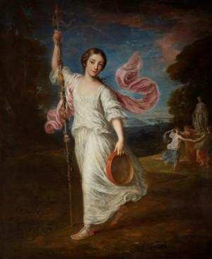 Lady Emily Kerr (b.1759), as a Bacchante