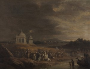 Indian Landscape with a Funeral