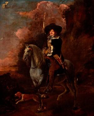 Cavalier on a Grey Horse