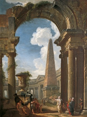 Ruins of a Temple with a Sibyl