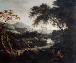 Landscape with Pastoral Figures