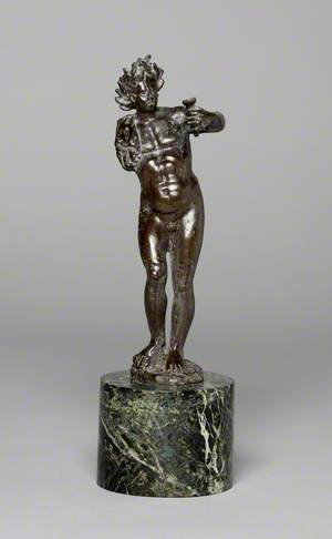 Naked Bacchus Holding a Cup