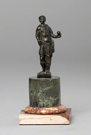 Roman Soldier Holding an Orb