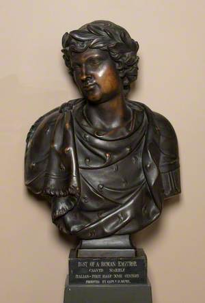 Bust of a Roman Youth Crowned with Laurels