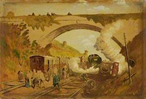 Railway Accident at Flax Bourton
