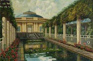 The Lily Pond at the Winter Gardens, Weston-super-Mare
