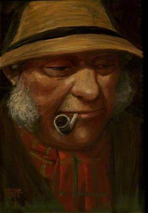 Portrait of an Unknown Gentleman Smoking a Pipe