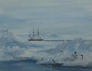 Scott's Ship in the Antarctic