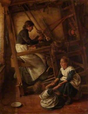 Weaver at a Loom