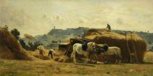 Threshing at Poissy, France