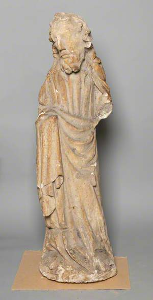 Male Figure, Possibly a Saint (Architectural Fragment)