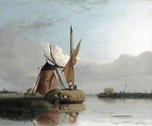 Barges on the Norfolk Broads