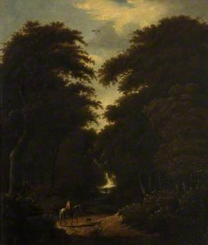 Forest Scene with Horseman