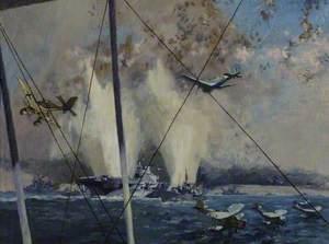 HMS 'Illustrious' under Air Attack, 10 January 1941