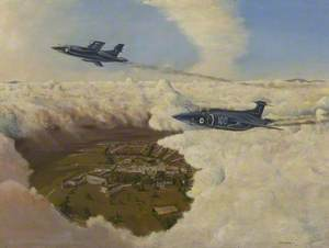 Two Buccaneers over the Royal Navy Engineering College