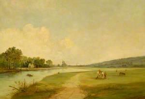 Egham from Long Mede, Runnymede