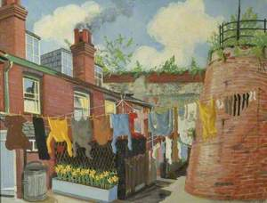 Washing Day at Lyons Cottages, Dorking, Surrey