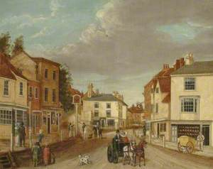 South Street from Pump Corner, Dorking, Surrey