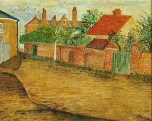 The Entrance to Springfield Lane, Weybridge, Surrey