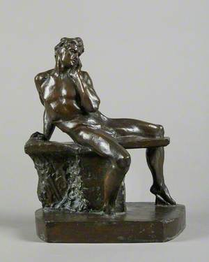 Study for the Male Nude in the 'Genius of Greek Poetry'